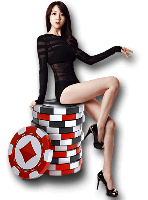 girl poker chip
